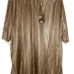 NWT Gochu Mens size L Color Brown shirt